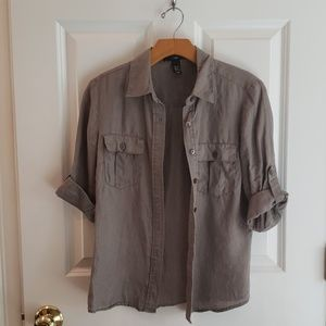 H&M Tops - Linen Button Down Shirt